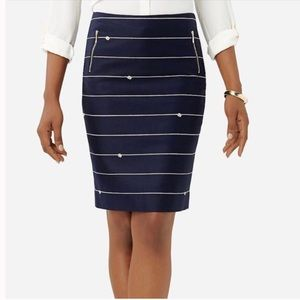 The Limited nautical pencil skirt NWOT